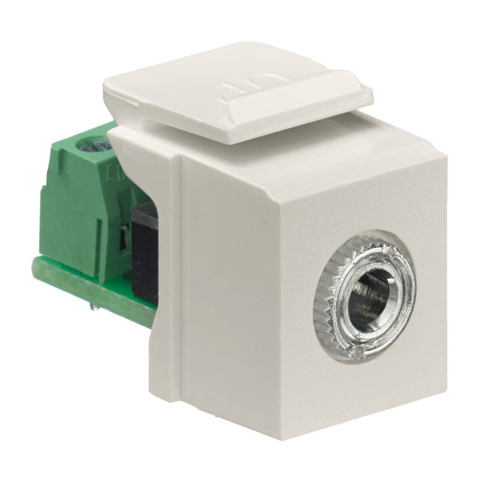 Leviton 5G108-BI5 Category 5e QuickPort Snap-In Connector Ivory